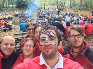 campfire selfie