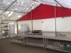 Tented Village Kitchen